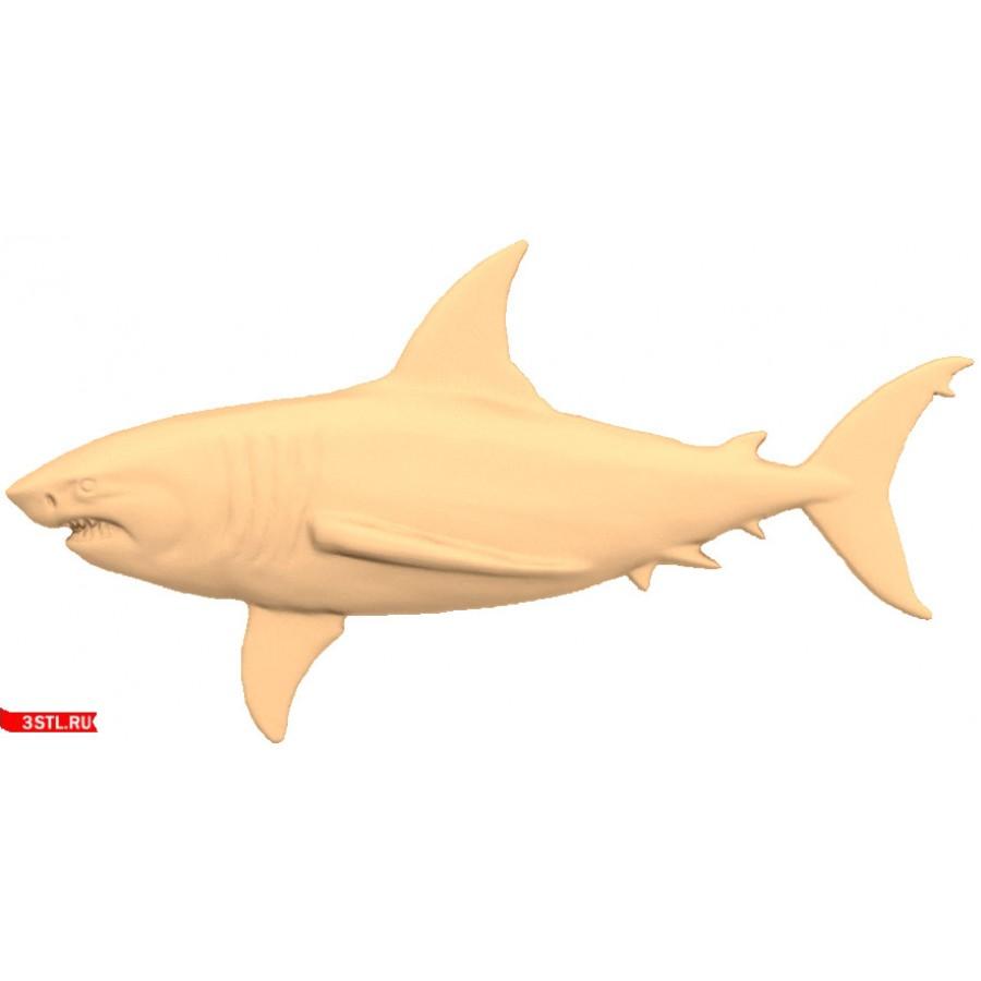 Акула | STL - 3D модель для ЧПУ