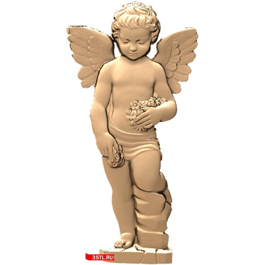 Ангел #6   STL - 3D модель для ЧПУ