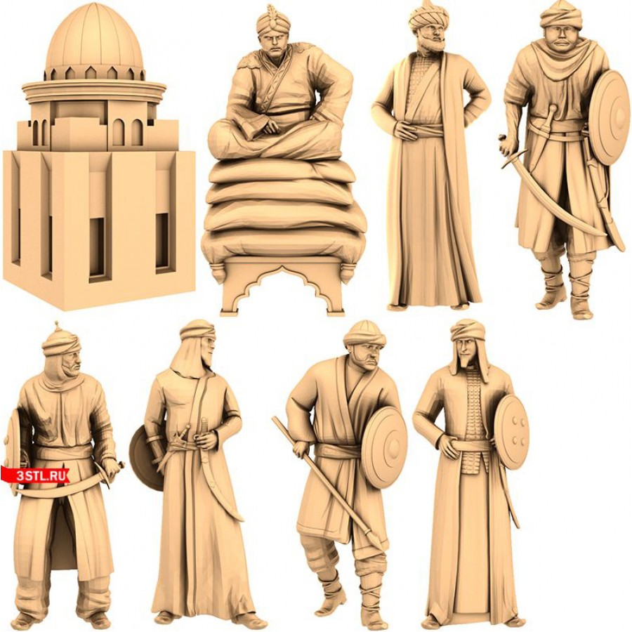 Арабы Набор   STL - 3D модель для ЧПУ