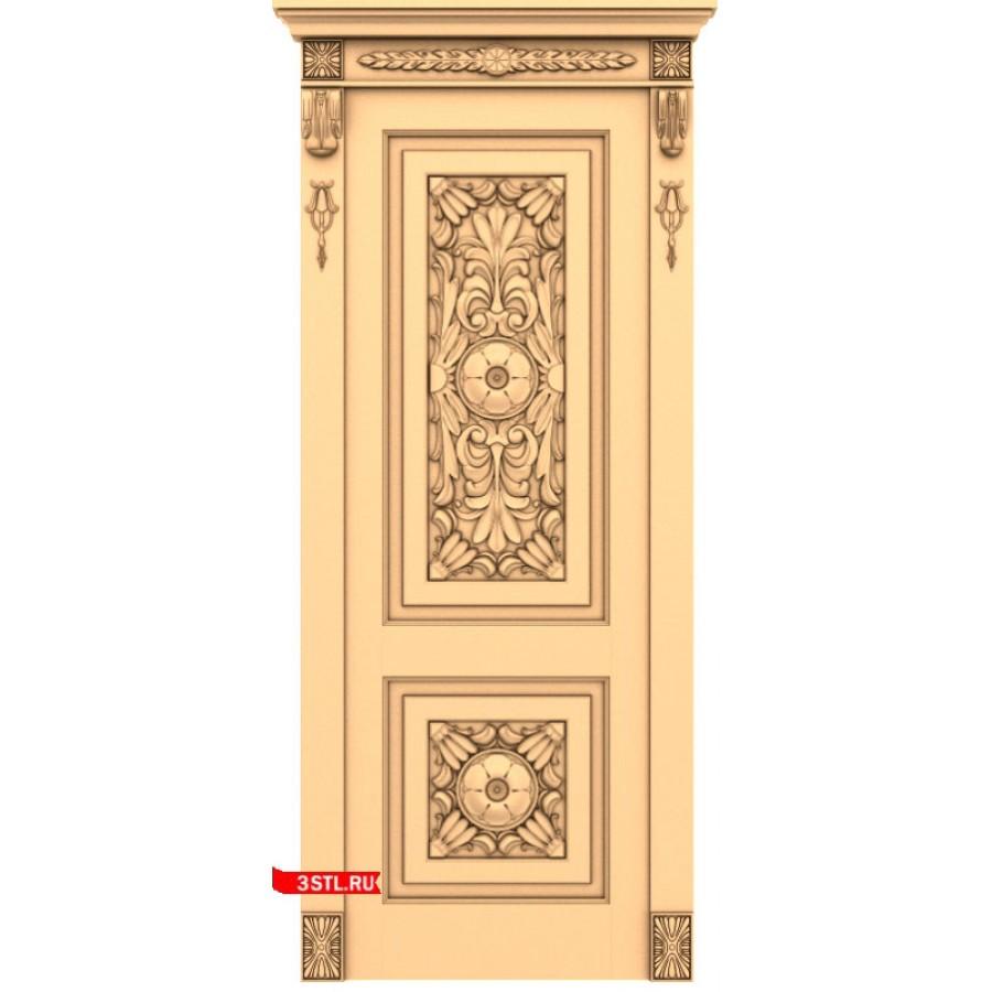 Дверь #14 | STL - 3D модель для ЧПУ