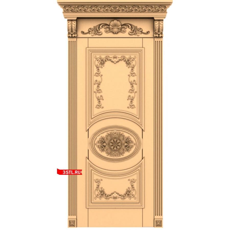 Дверь #8   STL - 3D модель для ЧПУ