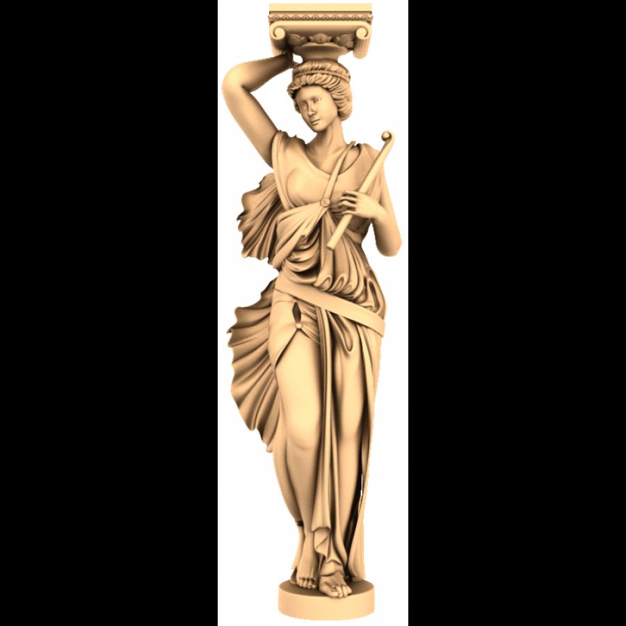 Девушка-колонна   STL - 3D модель для ЧПУ