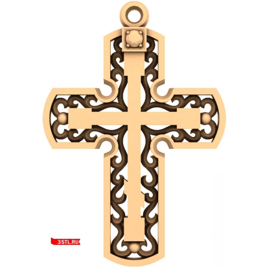 Крест #24 | STL - 3D модель для ЧПУ