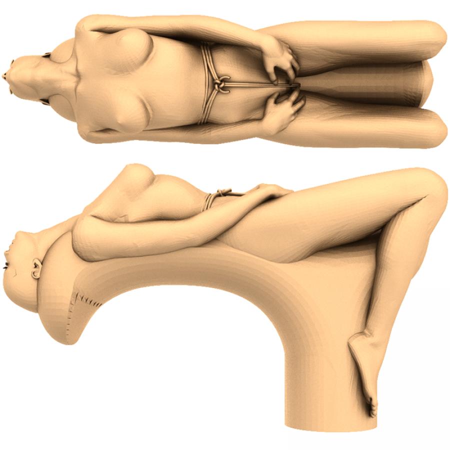 Рукоятка #9 | STL - 3D модель для ЧПУ