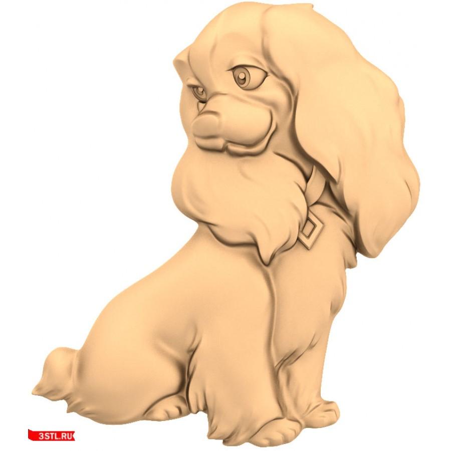 Собачка #3 | STL - 3D модель для ЧПУ